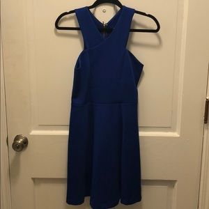 Express blue formal dress